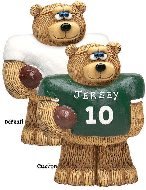 "Buy cute gifts for him - ""Football Bear Figurine, Cute Gifts for Him\"""